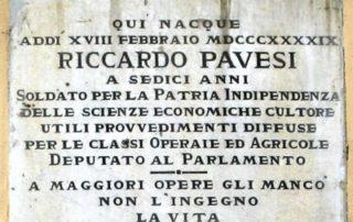 Lapide a Riccardo Pavesi