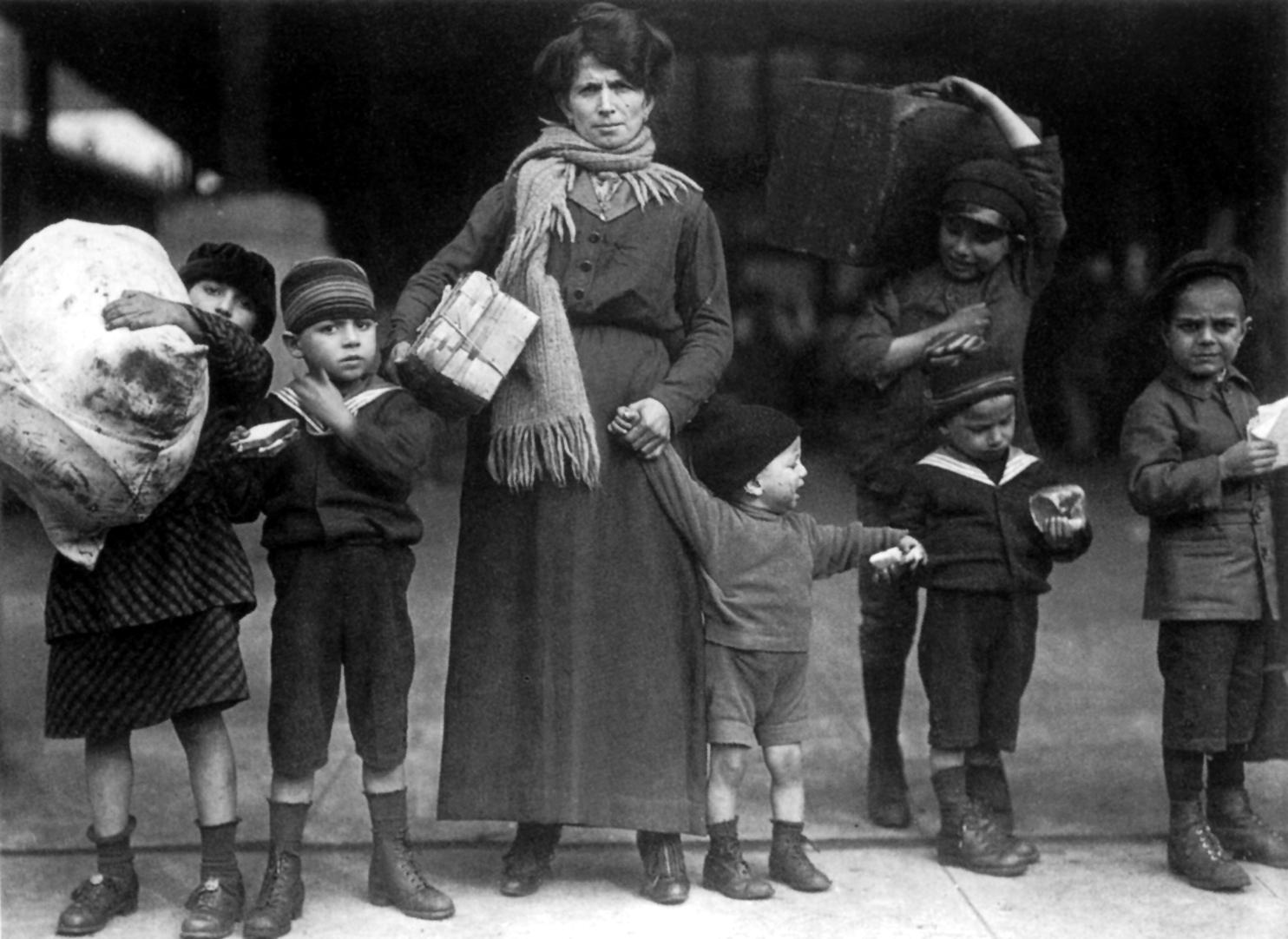 Famiglia di migranti, 1910