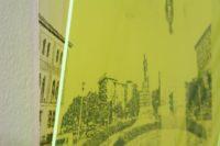 Other Opera // Verdi Disegno penna gel nera su carta cotone pressata a freddo, 450 gr, 40 x 50 cm e plexiglas fluo ambra, dettaglio Simona Da Pozzo Milano 2018