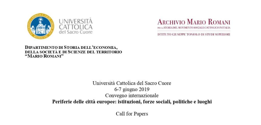 Calendario Unicatt.Convegno Sulle Periferie Delle Citta Europee In Universita