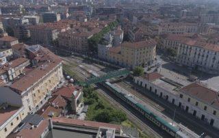 Stazione di Porta Genova, ripresa dal drone