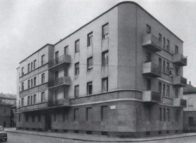 La casa di via Pietro Calvi 10 (La città ideale. 1879-2004. 125 anni di cooperazione, 2004, p. 104)
